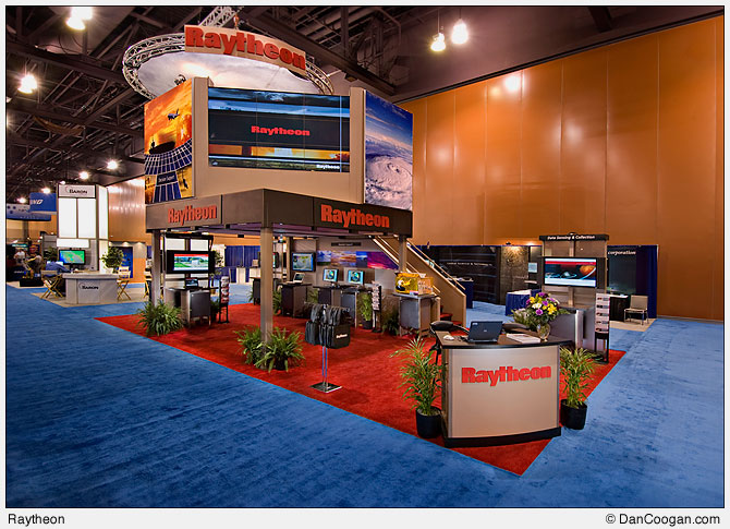 Raytheon, Two-story trade show booth