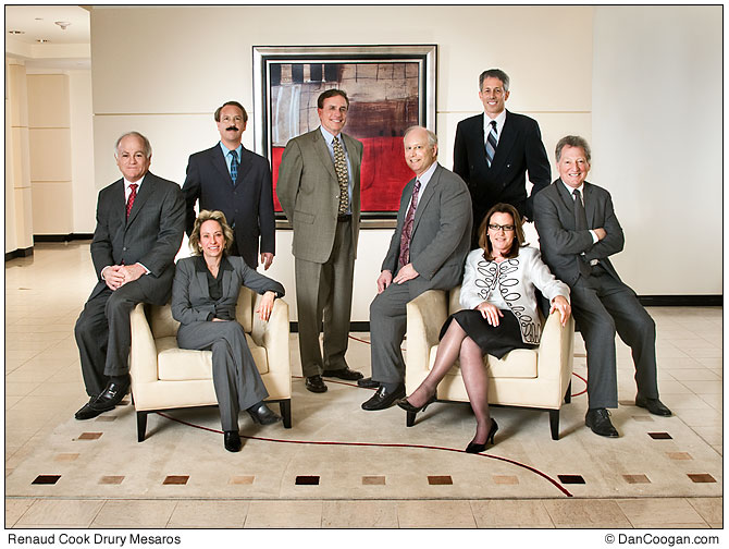 Group shot of Renaud Cook Drury Mesaros Law Firm for Super Lawyers Magazine.