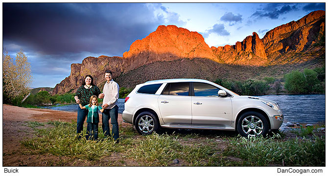 Buick Enclave, near the Salt River