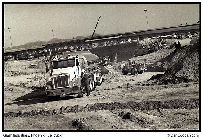 Giant Industries, Phoenix Fuel truck at construction site.