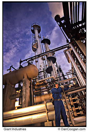 Giant Industries, Refinery Worker maintaining the plant