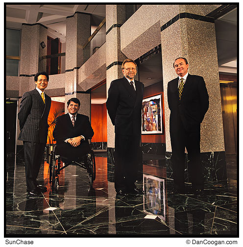 SunChase Holdings Inc., Executives in the Esplanade Lobby