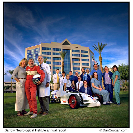 Peter Harris, Race car driver and the medical team that put him back together, Barrow Neurological Institute, annual report, St. Joseph's Hospital