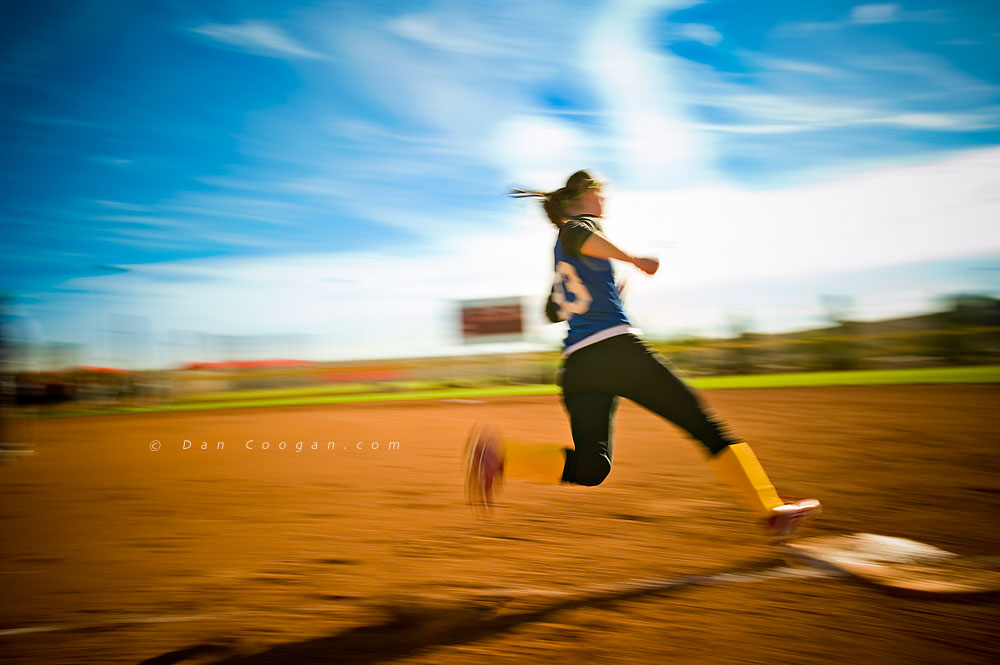 Fast Pitch Softball Runner, Las Vegas, NV ~ Dan Coogan, photographer