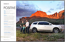 Buick Enclave, B, The Buick Owner magazine near the Salt River